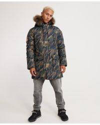 Superdry Green Everest Parka Jacket for men