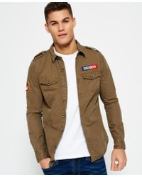 Superdry Multicolor Ultra Light Army Corps Shirt for men