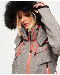 Superdry - Gray Ultimate Snow Service Jacket - Lyst