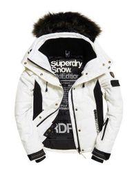 Superdry White Snow Puffer Ski Jacket