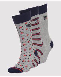 Superdry Multicolor Boxed City Sock Triple Pack for men