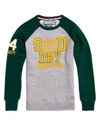 Superdry Gray Trackster Baseball Crew Sweatshirt for men