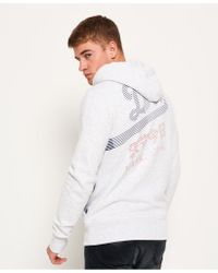 Superdry Gray Vintage Logo Wrap Around Hoodie for men