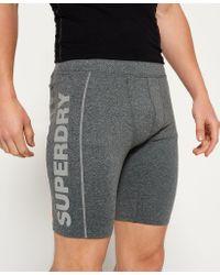 Superdry Gray Gym Sport Runner Shorts for men