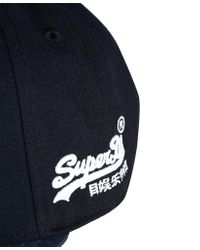 Superdry Blue Kingston Hunter Cap for men