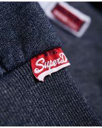 Superdry Blue Trackster Zip Hoodie for men