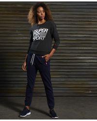 Superdry | Black Sd Sport Lightweight Crew Jumper | Lyst