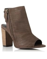Superdry | Gray Cara Cut Peep Toe Heeled Shoes | Lyst