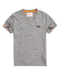 Superdry | Gray Orange Label Vintage Embroidered V-neck T-shirt for Men | Lyst