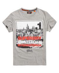 Superdry - Gray Box Photo City Amsterdam T-shirt for Men - Lyst