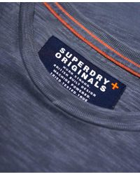 Superdry Blue Dry Originals Longline Short Sleeve T-shirt for men