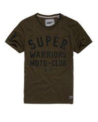 Superdry Green Warriors Biker T-shirt for men
