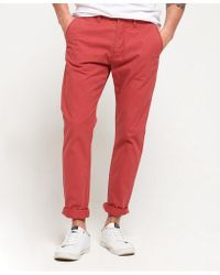 Superdry Red Rookie Chino Trousers for men