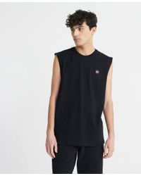 Superdry White Organic Cotton Collective Oversized Vest for men