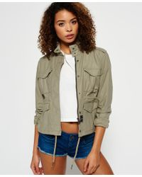 Superdry - Multicolor Mono Utility Cropped Jacket - Lyst