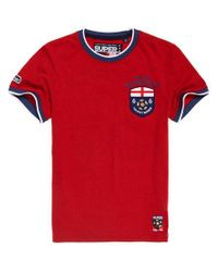 Superdry Red England Trophy Series T-shirt for men