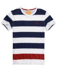 Superdry Blue Lowbar T-shirt for men