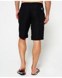 Superdry | Black Boardshorts for Men | Lyst