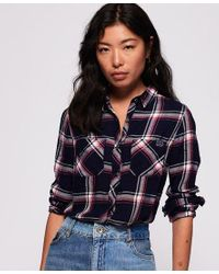Superdry Blue Midwest Dream Buffalo Check Shirt