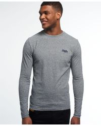 Superdry Gray Vintage Embroidery Long Sleeve T-shirt for men