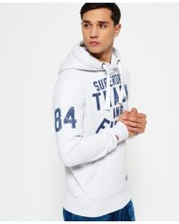 Superdry Gray Trackster Hoodie for men