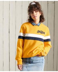 Superdry Yellow Collegiate Cut & Sew Sweatshirt