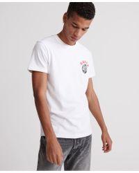 Superdry White Urban Varsity Tokyo T-shirt for men