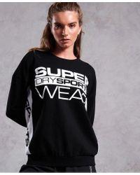 Superdry Black Sportswear Street Crew Neck Sweater