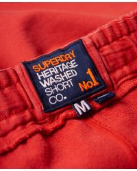 Superdry - Red Heritage Wash Shorts for Men - Lyst