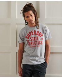 Camiseta Varsity 11 Standard Superdry de hombre de color Gray