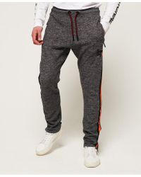 Superdry Black Time Trial Track Joggers for men