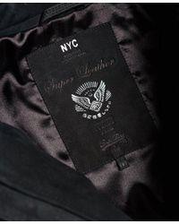 Superdry - Black Slim Nubuck Harrington Jacket for Men - Lyst