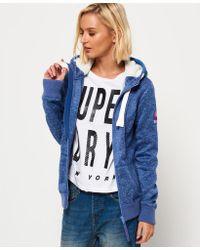 Superdry Blue Storm Zip Hoodie