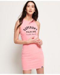 Superdry Pink Miami Mini Bodycon Dress