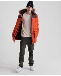 Superdry Orange Sd Explorer Parka Jacket for men