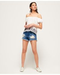 Superdry Multicolor Peekaboo Embroidered Top