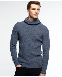Superdry - Blue Super Sd Waffle Hoodie for Men - Lyst