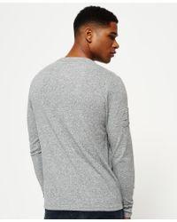 Superdry Gray Premium Goods Embossed T-shirt for men
