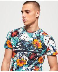 Superdry - Blue Premium Goods Hibiscus Lite T-shirt for Men - Lyst