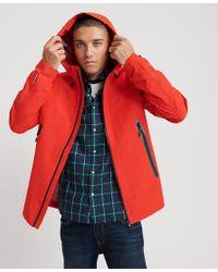 Superdry Red Hydrotech Waterproof Jacket for men