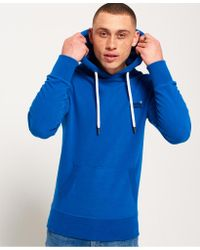 Superdry Blue Orange Label Lite Hoodie for men