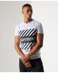 Superdry White Sport Training Coresport Graphic T-shirt for men