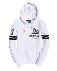 Superdry White Vintage Logo Fade Entry Hood Jumper