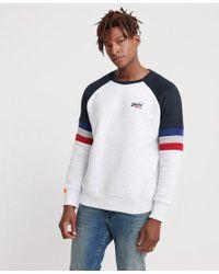 Superdry Multicolor Orange Label Engineered Sweatshirt for men