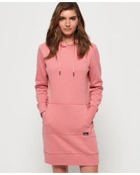 Superdry Pink Orange Label Sweat Dress