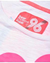 Superdry - White Hyper Sport Label Crop T-shirt - Lyst