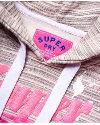 Superdry Pink Original Brand Splat Hoodie