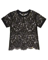 Superdry Green Tori All Over Eyelash Lace T-shirt