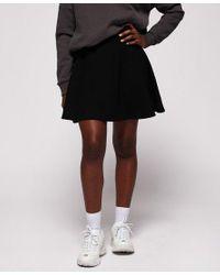 Superdry Blue Textured Skater Skirt