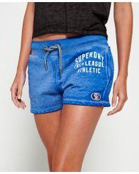 Superdry Blue Tri League Graphic Shorts